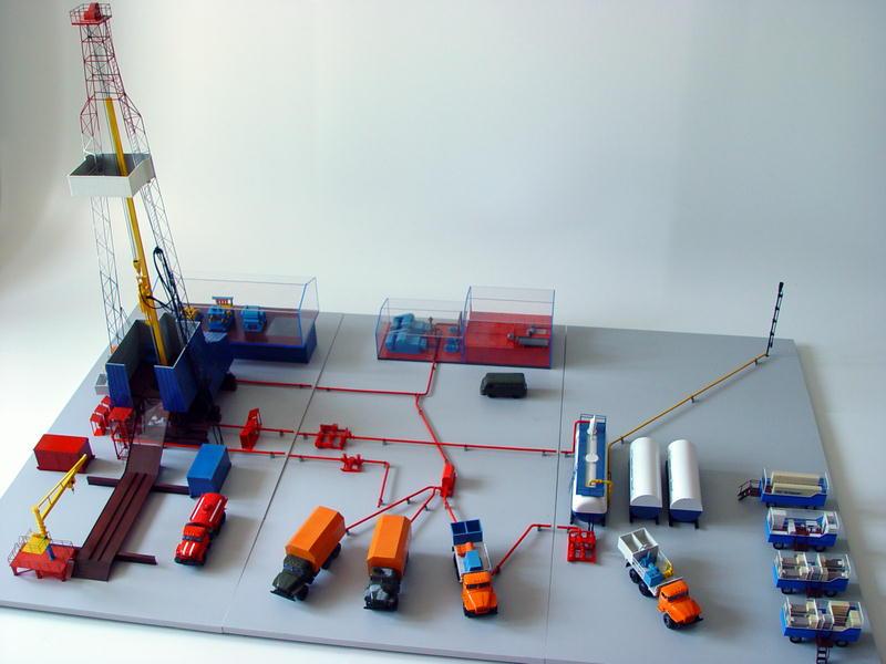 Модель нефтяной вышки своими руками для детей 87